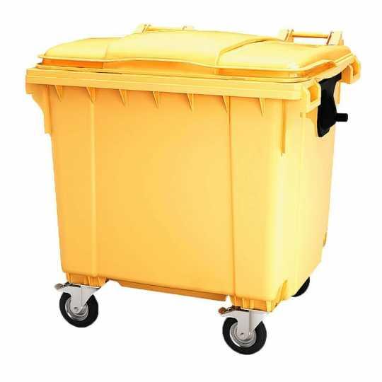 Мусорный Контейнер (БАК) 1100 л. Желтый